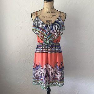 Bright Ruffled Dress
